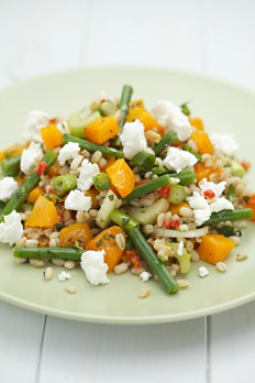 Warm Pearl Barley and Butternut squash Salad Recipe