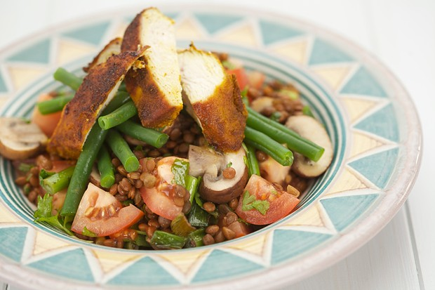 Spiced chicken with puy lentils-MAIN