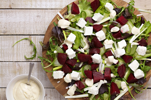 1066 goats cheese and beetroot salad