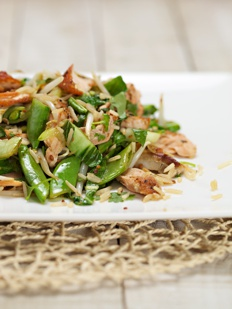 Warm asian Salmon Salad