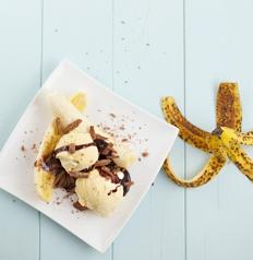 very quick banana split recipe