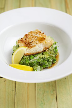 coconut cod with brolli mash recipe